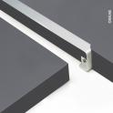 PLANEKO - Profil jonction d'angle alu - Plan de travail - 38mm - Bord droit
