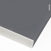 Profil finition alu - Plan de travail - 38 mm - Bord droit - PLANEKO
