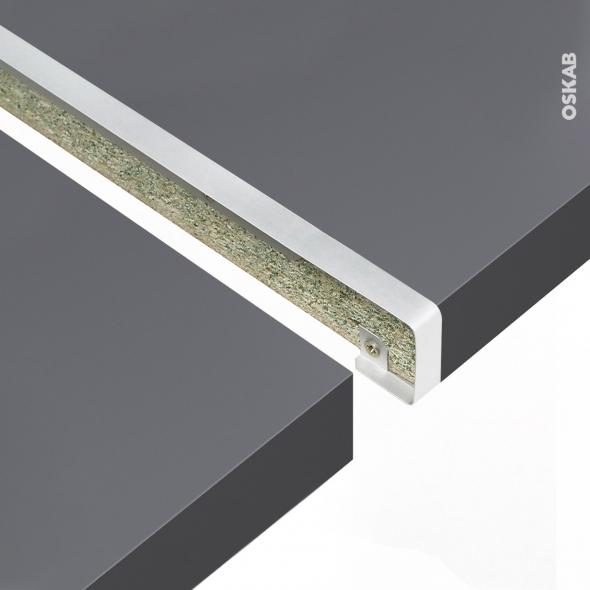 PLANEKO - Profil jonction droite - Plan de travail - 38mm - Bord droit