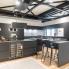 #Plan de travail cuisine N°311 - Décor Marbre noir - Stratifié - Chant coordonné - L204 x l62 x E3.8 cm - PLANEKO