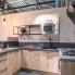 #Plan de travail cuisine N°304 - Décor Ardoise - Stratifié - Chant coordonné - L204 x l62 x E3.8 cm - PLANEKO