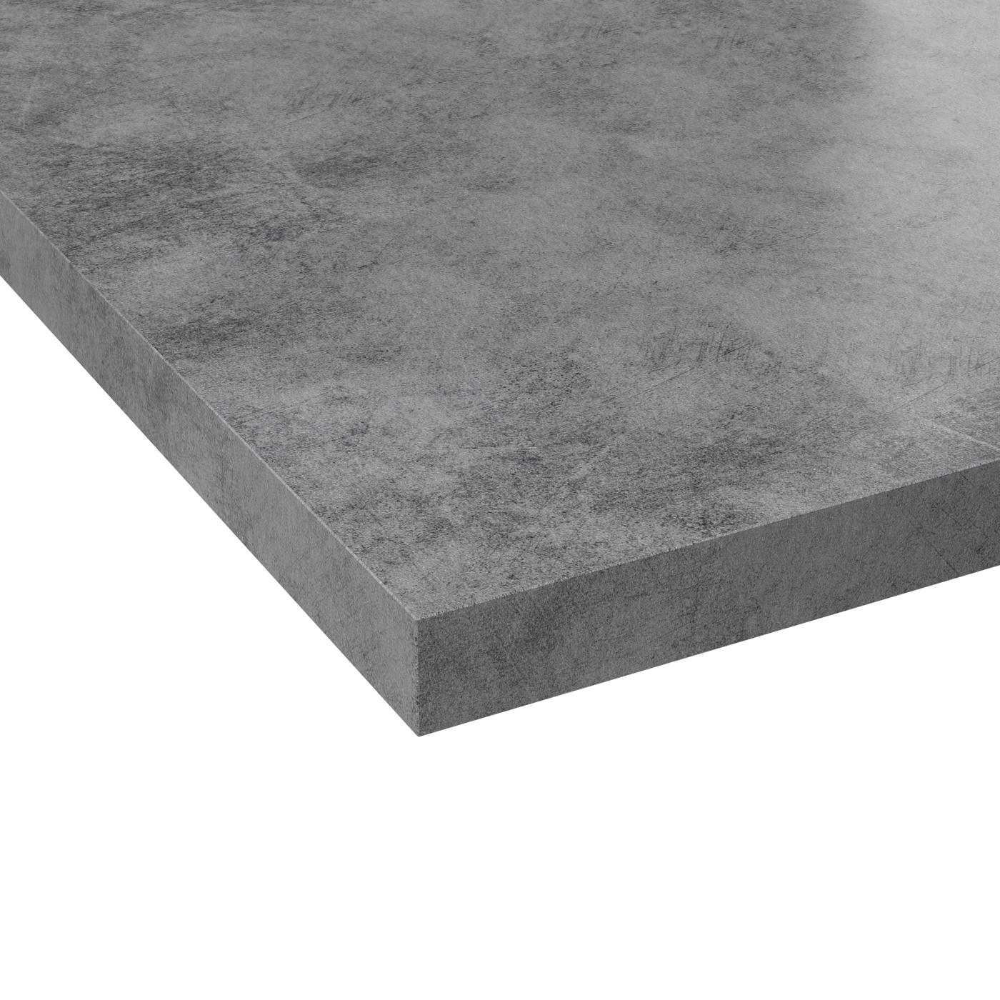 Micro Rayure Plan De Travail Stratifié plan de travail cuisine n°508 décor béton gris clair stratifié, chant  coordonné, l204 x l62 x 3.8cm, planeko
