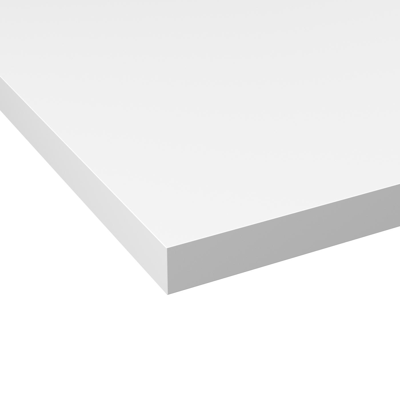 Micro Rayure Plan De Travail Stratifié plan de travail de cuisine n°119 décor blanc mat fenix ntm ® stratifié,  chant coordonné, l204 x l62 x e3.8 cm, planeko