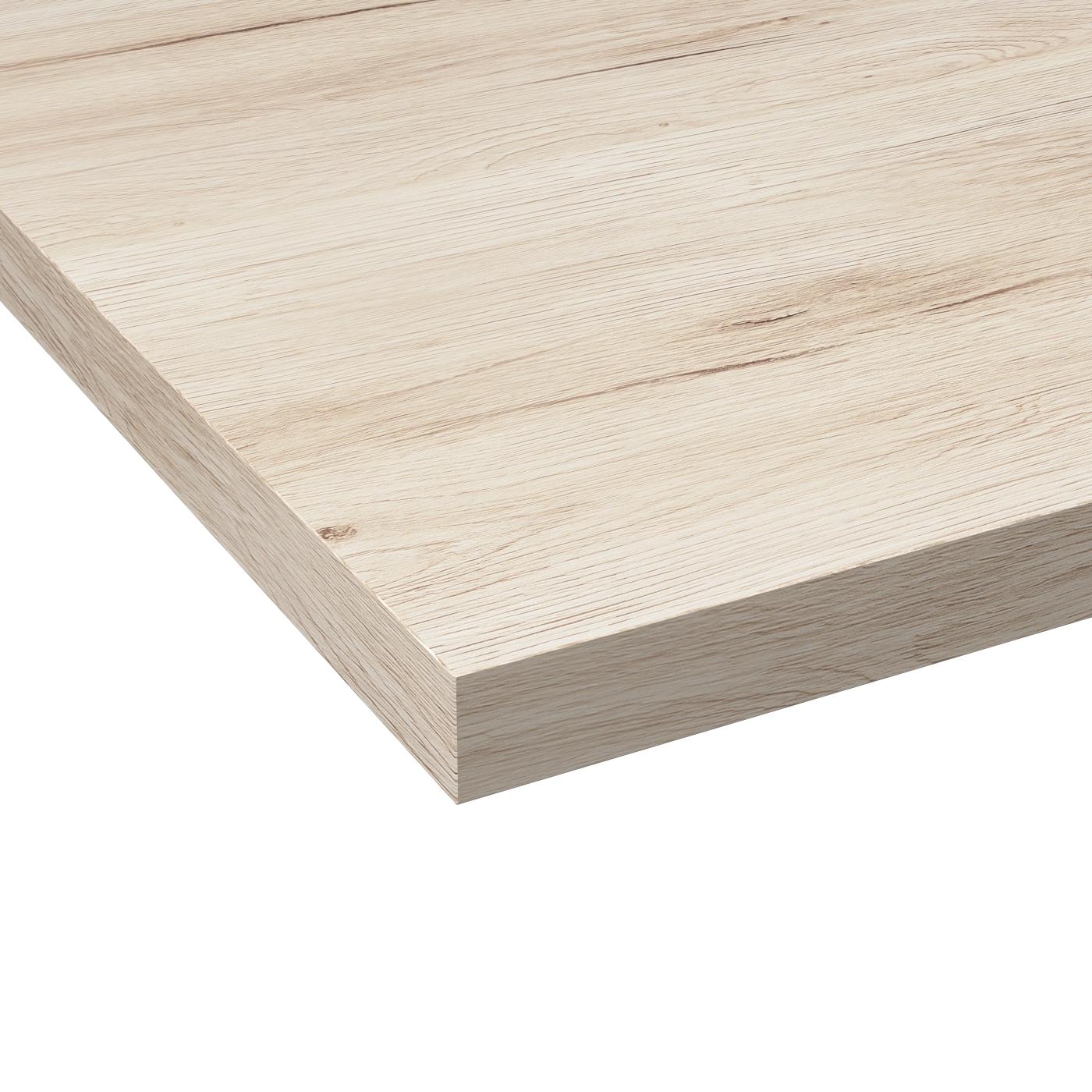 Comment Couper Plan De Travail Stratifié plan de travail cuisine n°213 décor chêne clair ikoro stratifié, chant  coordonné, l204 x l62 x e3.8 cm, planeko