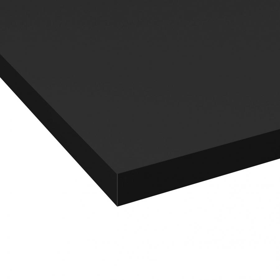 Micro Rayure Plan De Travail Stratifié plan de travail de cuisine n°117 décor noir mat fenix ntm ® stratifié,  chant coordonné, l204 x l62 x e3.8 cm, planeko