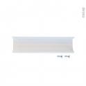 SOKLEO - Poignée de cuisine - Pour meuble alu blanc vitré - 15cm