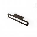 Poignée de meuble - de cuisine N°39 - Chrome noir mat - 16,6 cm - Entraxe 64 mm - SOKLEO