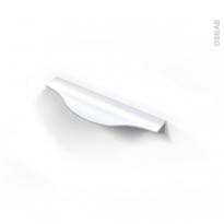Poignée de meuble - de cuisine N°58 - Alu mat blanc - 14,6 cm - Entraxe 128 mm - SOKLEO