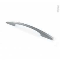 Poignée de meuble - de cuisine N°53 - Inox brossé - 24,1 cm - Entraxe 160 mm - SOKLEO