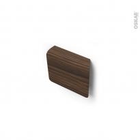 Poignée de meuble - de cuisine N°79 - Noyer - Entraxe 32 mm - SOKLEO