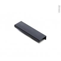 Poignée de meuble - de salle de bains N°85 - Noir - 13 cm - Entraxe 90 mm - HAKEO