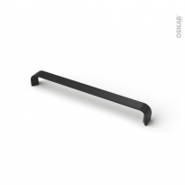 Poignée de meuble - de salle de bains N°65 - Noir mat - 23 cm - Entraxe 224 mm - HAKEO