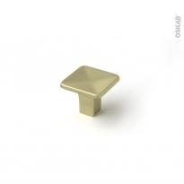Poignée de meuble - de salle de bains N°67 - laiton brossé - 3,2cm - HAKEO