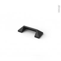 Poignée de meuble - de salle de bains N°75 - Noir verni - 7,8 cm - Entraxe 64 mm - HAKEO