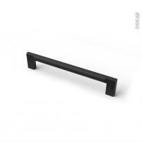 Poignée de meuble - de salle de bains N°76 - Noir mat - 17,4 cm - Entraxe 160 mm - HAKEO