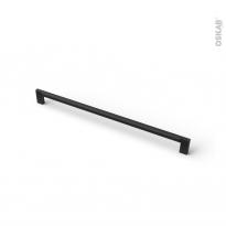 Poignée de meuble - de salle de bains N°76 - Noir mat - 33,4 cm - Entraxe 320 mm - HAKEO