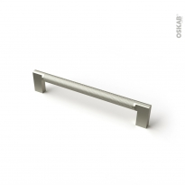 Poignée de meuble - de salle de bains N°77 - Inox brossé - 17,4 cm - Entraxe 160 mm - HAKEO