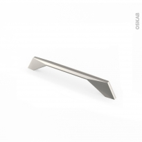 Poignée de meuble - de cuisine N°41 - Acier inox gris - 18,3 cm - Entraxe 160 mm - SOKLEO
