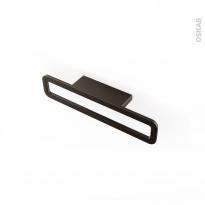 Poignée de meuble - Salle de bains N°39 - Chrome noir mat - 16,6 cm - Entraxe 64 mm - HAKEO