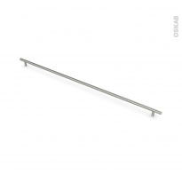 Poignée de meuble - de cuisine N°16 - Inox brossé - 75,8 cm - Entraxe 692 mm - SOKLEO