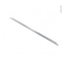 Poignée de meuble - de cuisine N°37 - Inox brossé - 100 cm - Entraxe 256 mm - SOKLEO