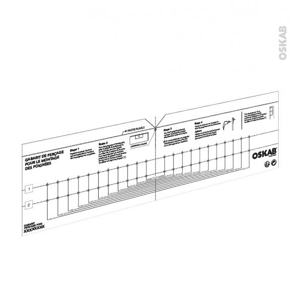 Gabarit de perçage - Poignée meuble de cuisine - SOKLEO