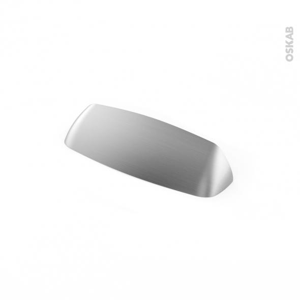 Poignée de meuble - de cuisine N°50 - Inox brossé - 12 cm - Entraxe 96 mm - SOKLEO