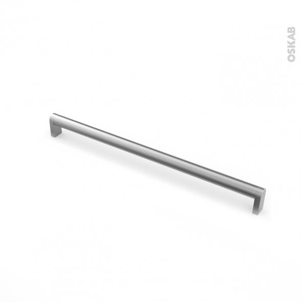 Poignée de meuble - de cuisine N°54 - Inox brossé - 32,8 cm - Entraxe 320 mm - SOKLEO