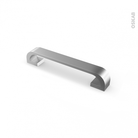 Poignée de meuble - de cuisine N°46 - Inox brossé - 16,8 cm - Entraxe 160 mm - SOKLEO