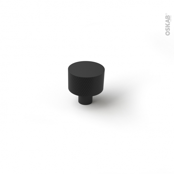Poignée de meuble - de salle de bains N°76 - Noir mat - 2,4cm - HAKEO