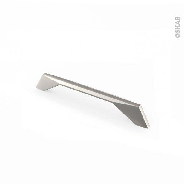 Poignée de meuble - de salle de bains N°41 - Acier inox gris - 18,3 cm - Entraxe 160 mm - HAKEO