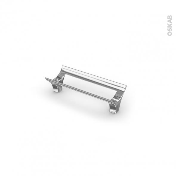Poignée de meuble - de cuisine N°15 - Chromé - 10,6 cm - Entraxe 96 mm - SOKLEO