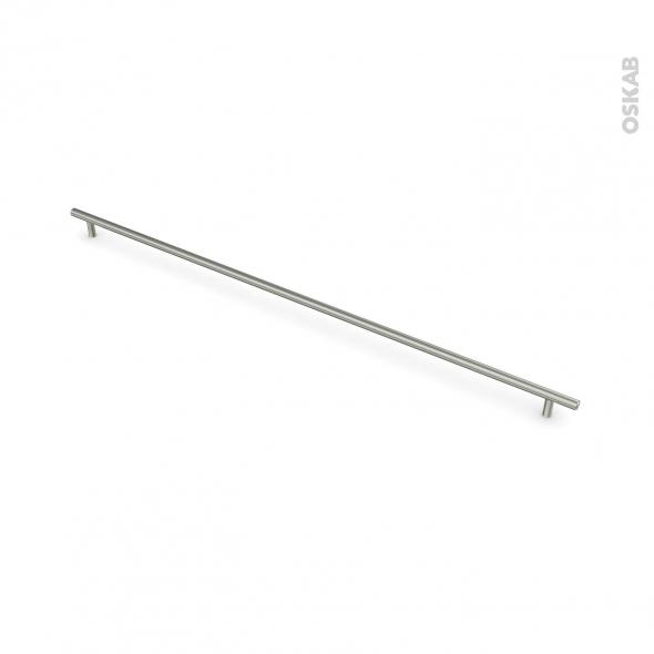 Poignée de meuble - Salle de bains N°16 - Inox brossé - 75,8 cm - Entraxe 692 mm - HAKEO
