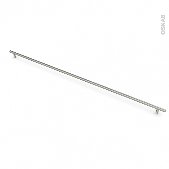 Poignée de meuble - de cuisine N°16 - Inox brossé - 89,7 cm - Entraxe 832 mm - SOKLEO