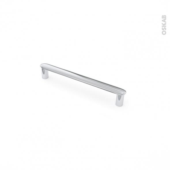 Poignée de meuble - de cuisine N°31 - Chromé brillant - 14,2 cm - Entraxe 128 mm - SOKLEO