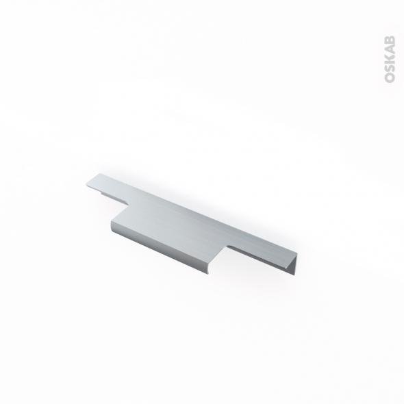 poignée de meuble de cuisine n°37 inox brossé 15 cm entraxe 96 mm ... - Meuble Cuisine Inox Brosse