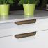 #Poignée de meuble - de cuisine N°80 - Noyer - 20 cm - Entraxe 160 mm - SOKLEO