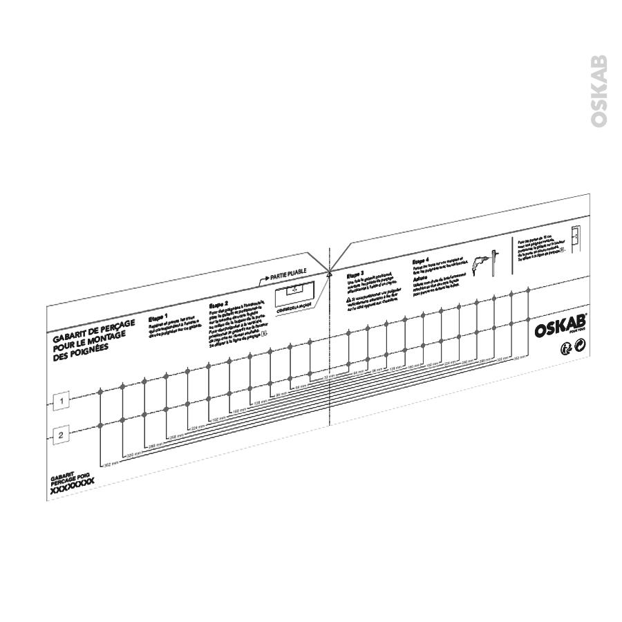 Epaisseur Caisson Cuisine Ikea gabarit de perçage poignée meuble de cuisine sokleo