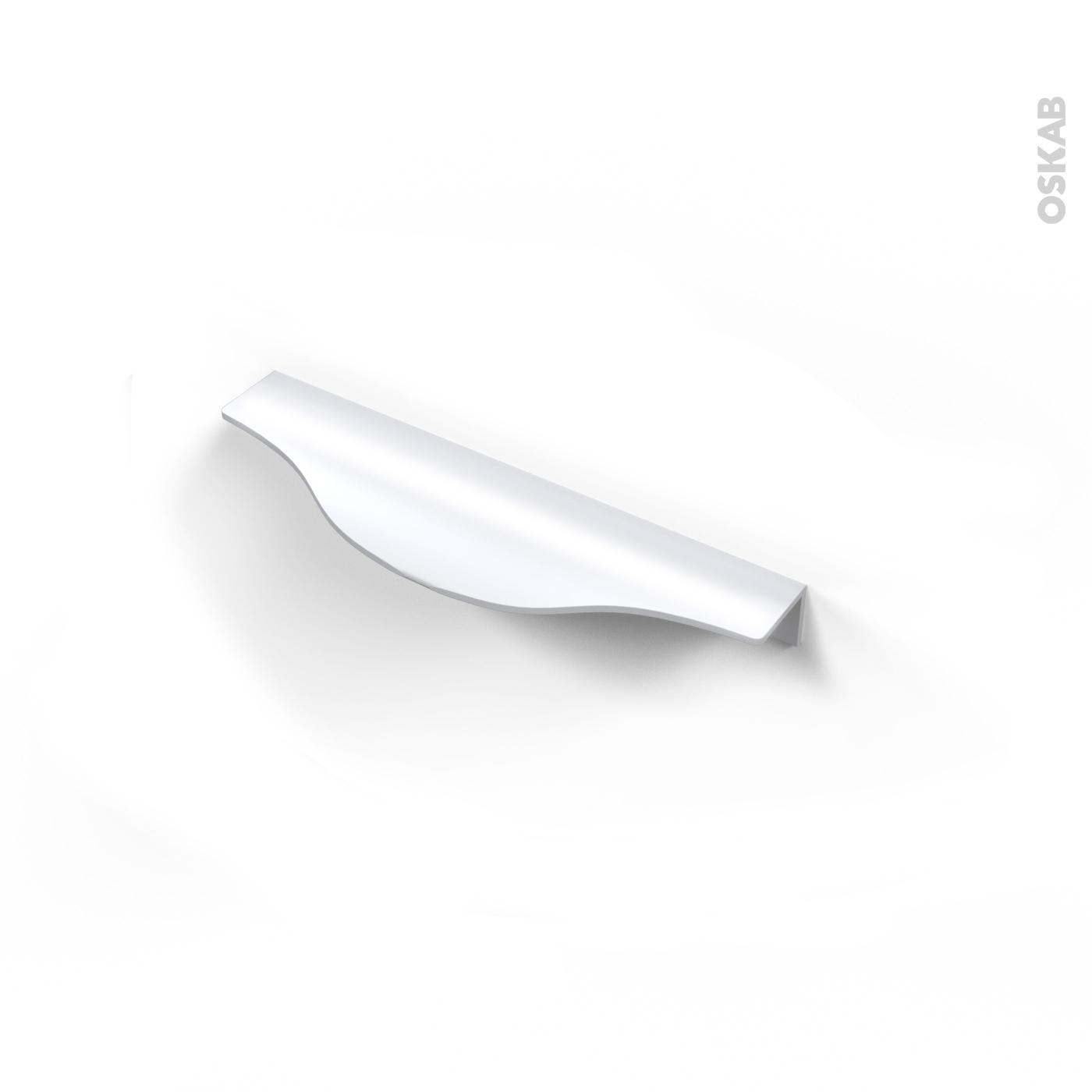 Poignee De Meuble De Cuisine N 58 Alu Mat Blanc 14 6 Cm Entraxe