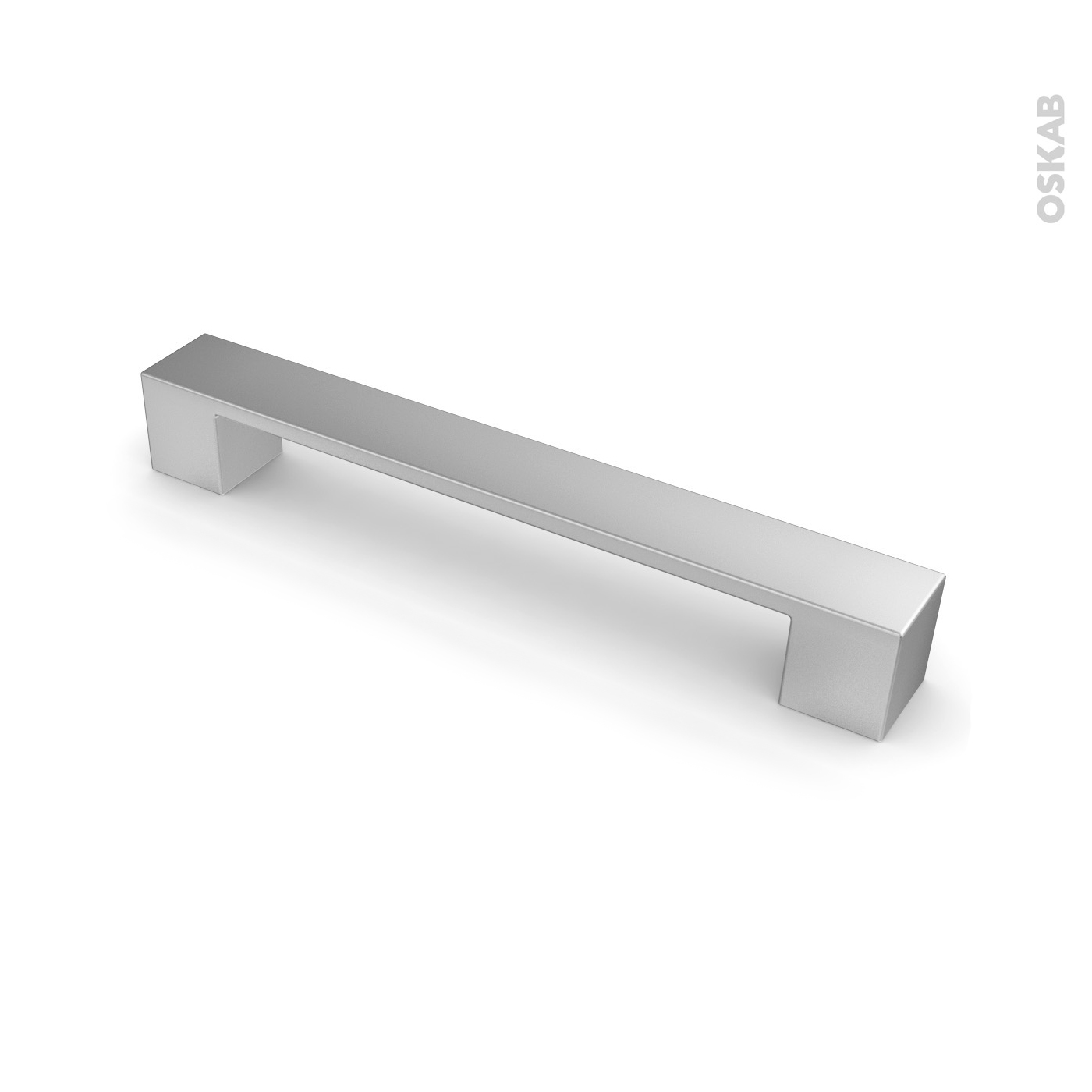 Poignee Porte Placard Cuisine poignée de meuble de cuisine n°4 vernis alu mat, 19,5 cm, entraxe 160 mm,  sokleo