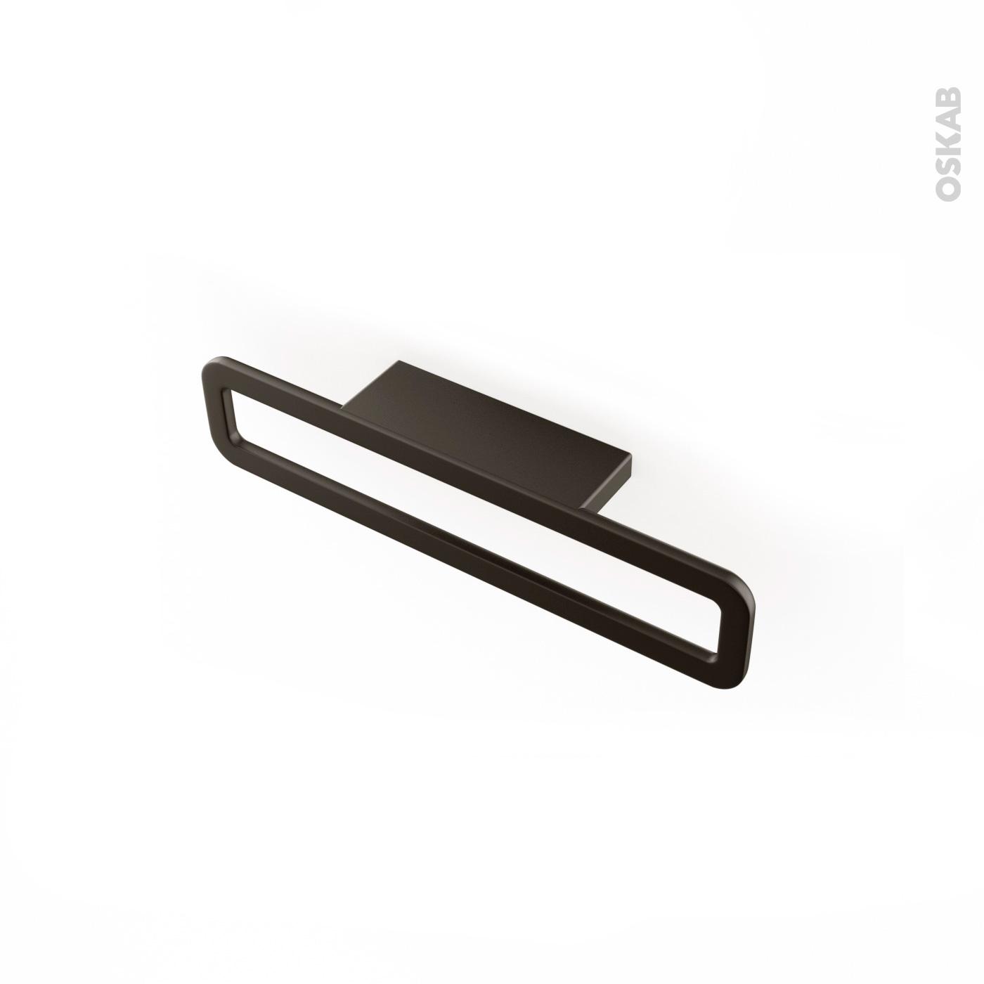 Poignet De Meuble De Cuisine poignée de meuble de cuisine n°39 chrome noir mat, 16,6 cm, entraxe 64 mm,  sokleo