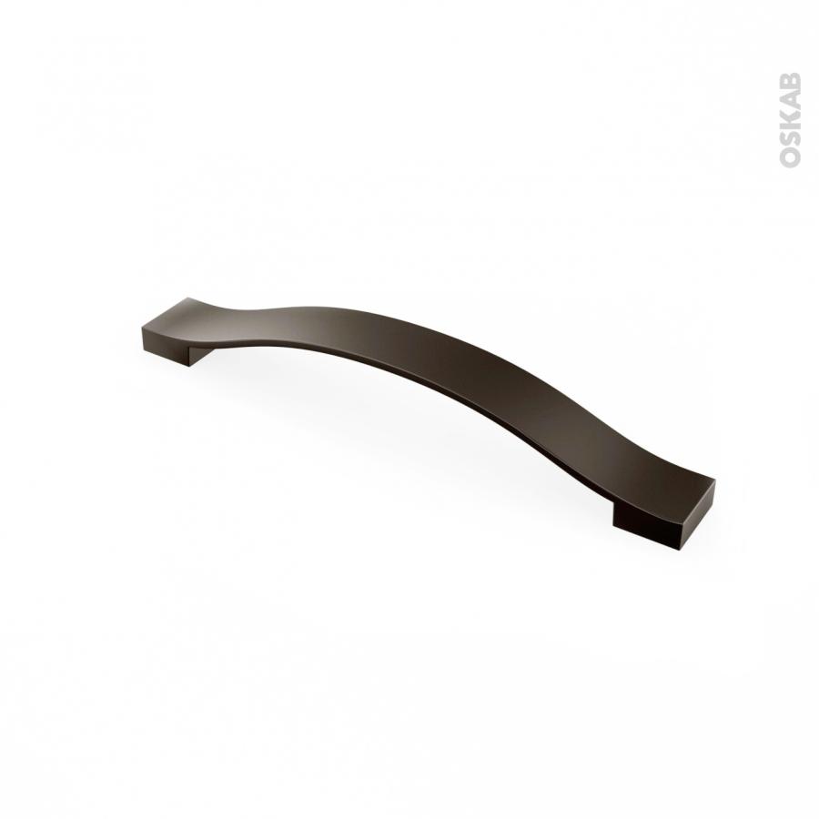 Poignée de meuble de cuisine N°10 Gris anthracite métal, 10,10 cm, Entraxe  10 mm, SOKLEO