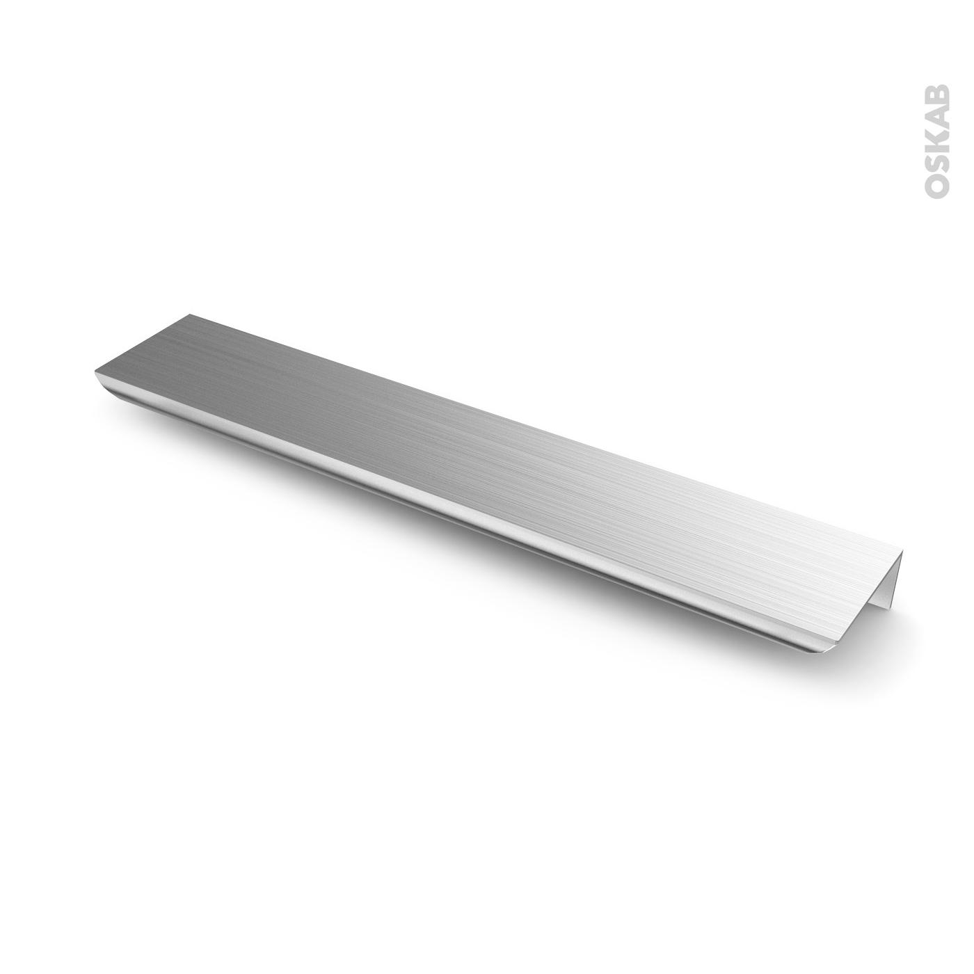 Poignée de meuble de cuisine N°12 Inox brossé, 12 cm, Entraxe 12 mm, SOKLEO
