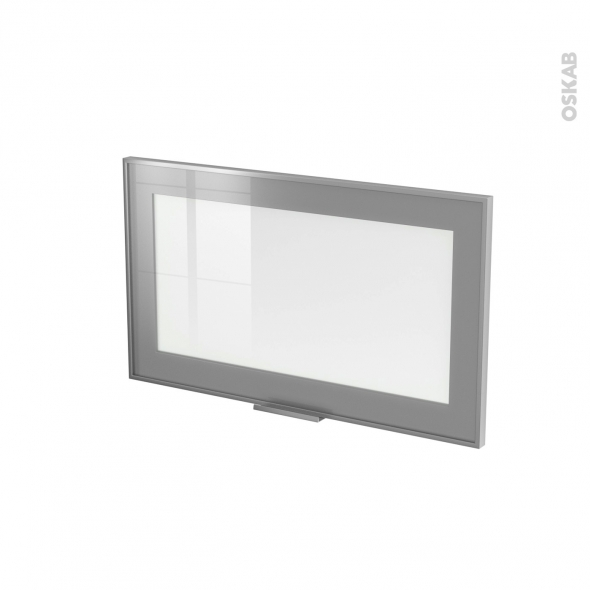 SOKLEO - Façade alu vitrée - Porte N°10 - L60xH35 - Avec poignée