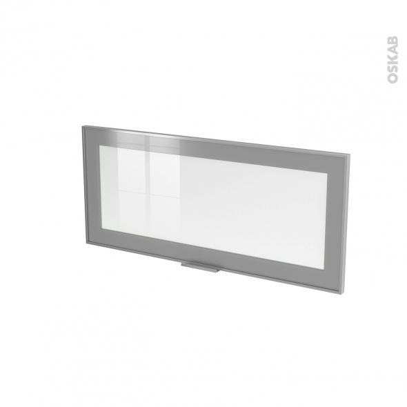 Façade alu vitrée - Porte N°11 - L80 x H35 cm - Avec poignée - SOKLEO