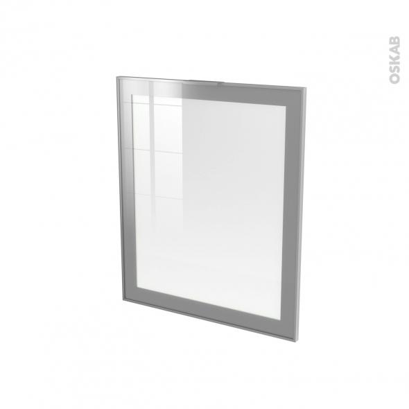 SOKLEO - Façade alu vitrée - Porte N°21 - L60xH70 - Avec poignée