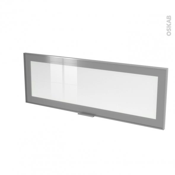 Façade alu vitrée - Porte N°12 - L100 x H35 cm - Avec poignée - SOKLEO