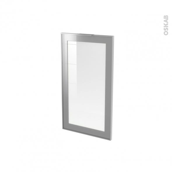 SOKLEO - Façade alu vitrée - Porte N°19 - L40xH70 - Avec poignée