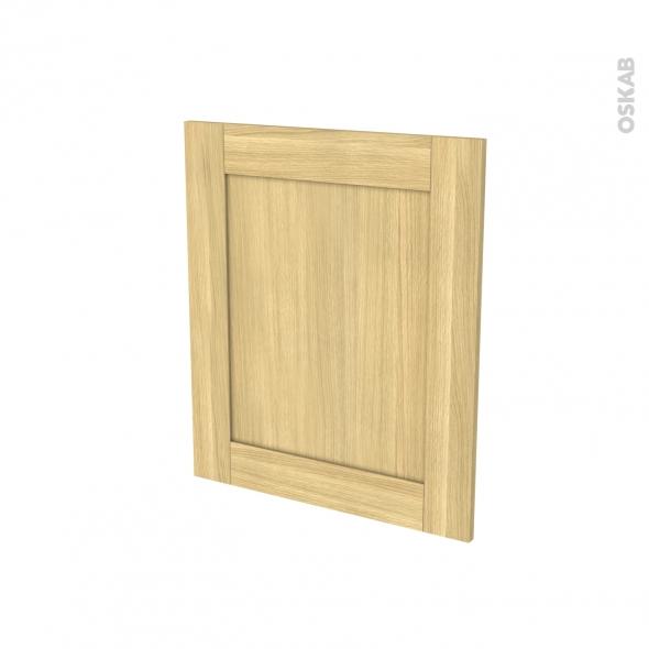BASILIT Bois brut - Porte N°21 - Lave linge - L60xH70 - A repercer