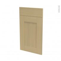 BASILIT Bois Vernis - façade N°51 1 porte 1 tiroir - L40xH70